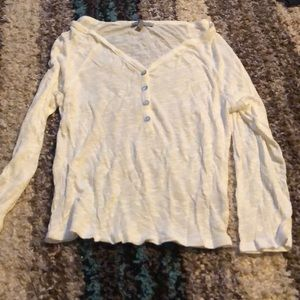 Small Charlotte Russe white 3/4 sleeve top